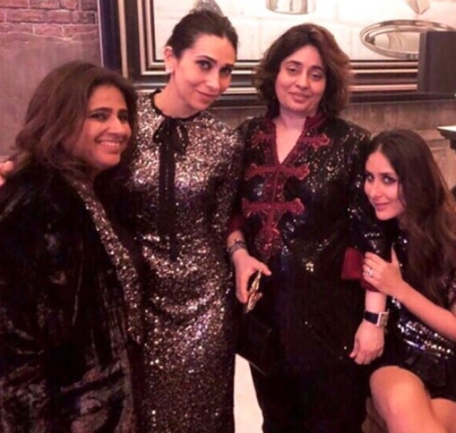 The squad including Kareena and Karisma Kapoor exudes the vibe of a shimmer-fest.