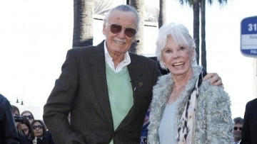File picture of Stan Lee and his wife, Joan who died last year.