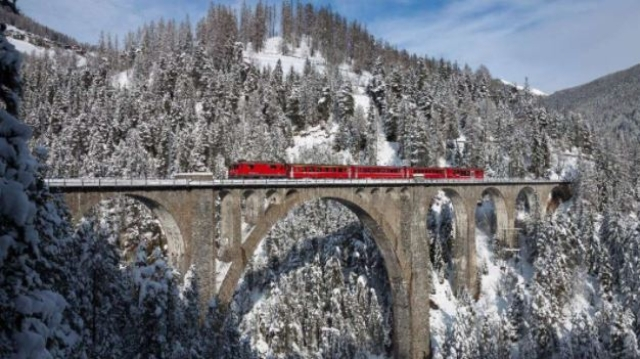 Train to Davos.