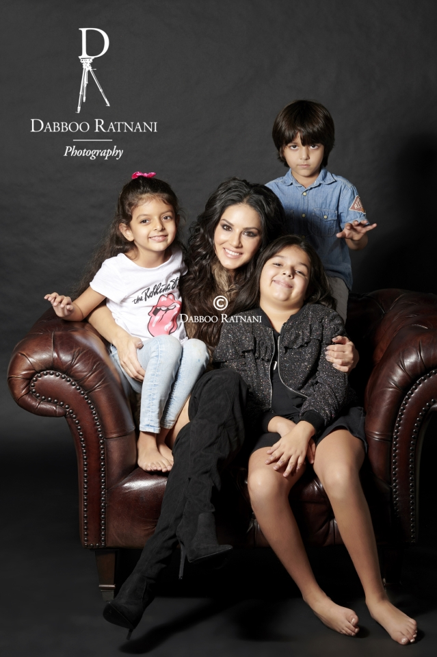 It's all Sunny on Dabboo Ratnani's set.