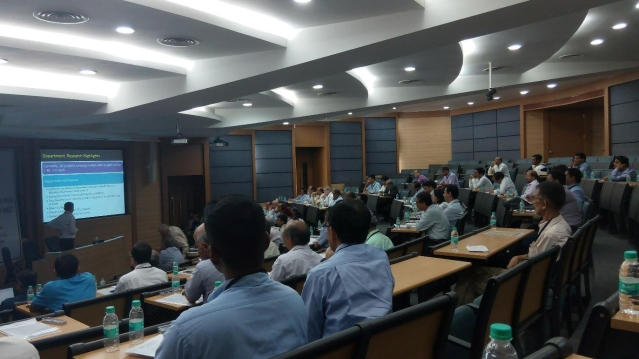 A picture taken at an academic meet at IIT-B. The skewed gender ratio is evident here.