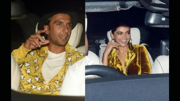 Ranveer Singh takes the backseat with Deepika Padukone.