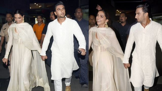 Ranveer Singh and Deepika Padukone at the <i>Padmaavat </i>screening.