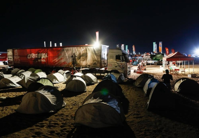 Camps at the Dakar 2018 event.