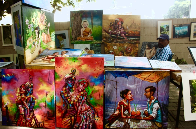 The Parisath also featured differently abled artists' works at this year's festival.