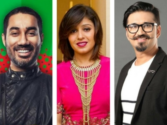 DJ Nucleya, Sunidhi Chauhan and Amit Trivedi - the trinity judging <i>The Remix</i>.