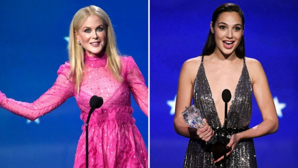Nicole Kidman and Gal Gadot, two of the winners of the night.
