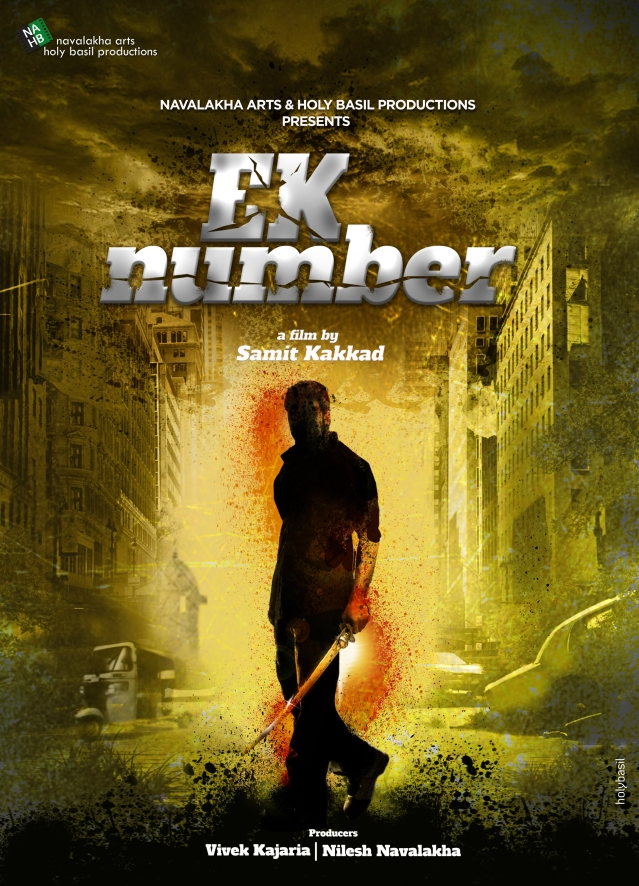 A poster of <i>Ek Number</i>, the next film under the NABH banner.