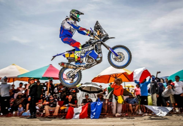 Franco Caimi from Yamaha Racing pleases the crowd with a jump.