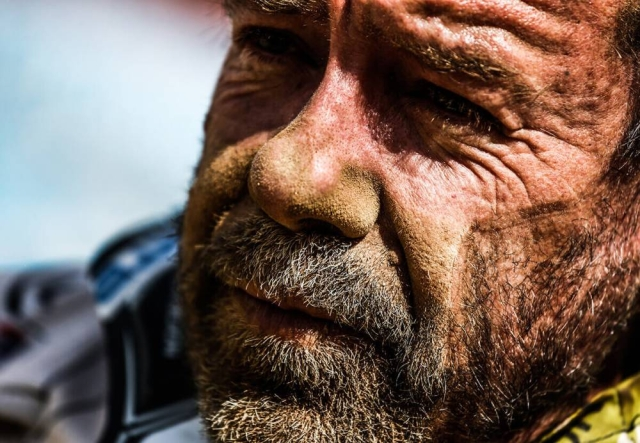 Sand, sweat and adrenaline – Daniel Nosiglia Jager of KTM moto –  is an example of what  Dakar has to offer participants.
