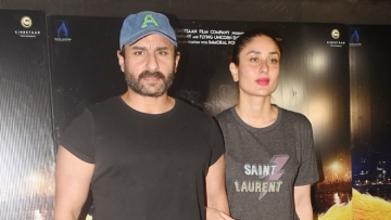 "Kareena Kapoor attends Saif's film screening, <span style=""background-color: rgb(255, 255, 255); font-style: italic; white-space: pre-wrap;"">Kaalakaandi.</span>"