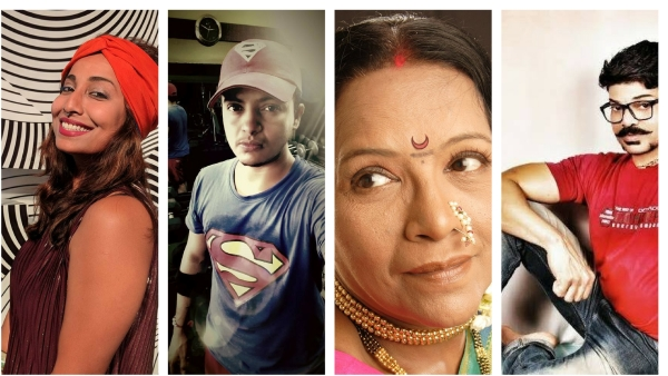 Rohini Ramnathan, Siddhant More, Mangala Aher & Vivek Patil - the 'Queeroes'.
