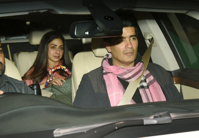 Sridevi attended the screening with her favourite designer Manish Malhotra.