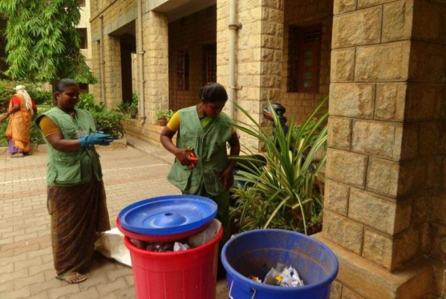 Environmentalists suggest composting as an effective measure to treat waste.