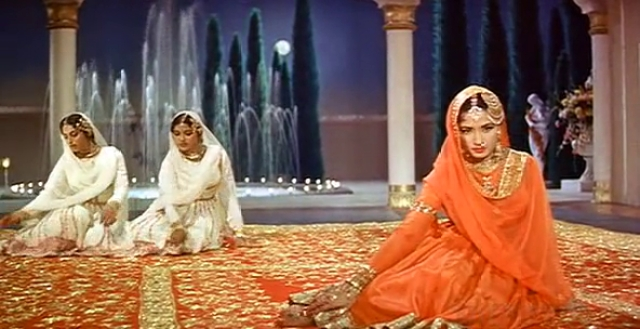 Meena Kumari in a still from <i>Pakeezah.</i>