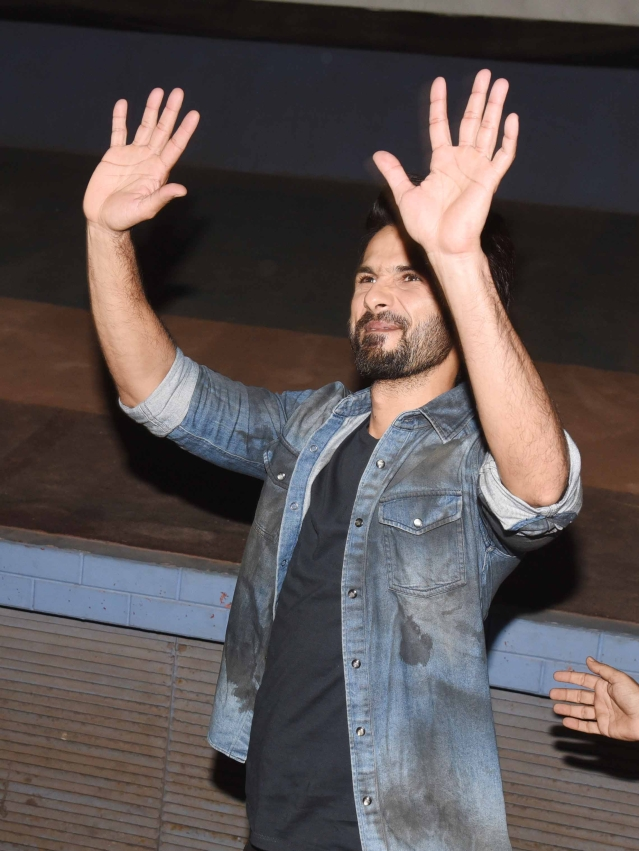 Shahid's excitement seems to know no bounds.