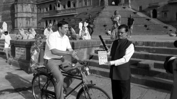 Akshay on the sets of <i>PadMan.</i>