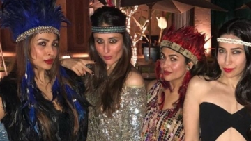 Malaika Arora, Kareena Kapoor, Amrita Arora and Karisma Kapoor at the party.
