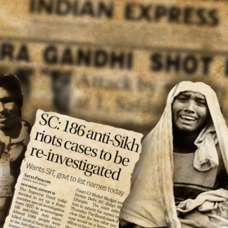 Indira Gandhi was assassinated on 31 October which led to massive communal riots on the following three days.