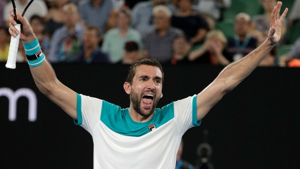 Marin Cilic became Croatia's first Australian Open finalist on Thursday, 25 January.