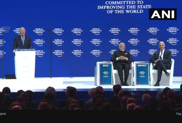 PM Narendra Modi set to address opening plenary at the WEF 2018 in Davos.