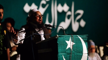 File picture of JuD chief Hafiz Saeed.