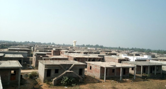 Sturdy brick houses were constructed at relocation site in New Kirtipur.
