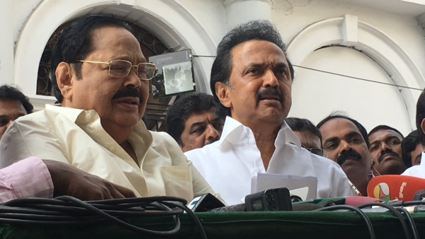 DMK and Congress staged a walk out as the Governor made his first address at the House on 8 January