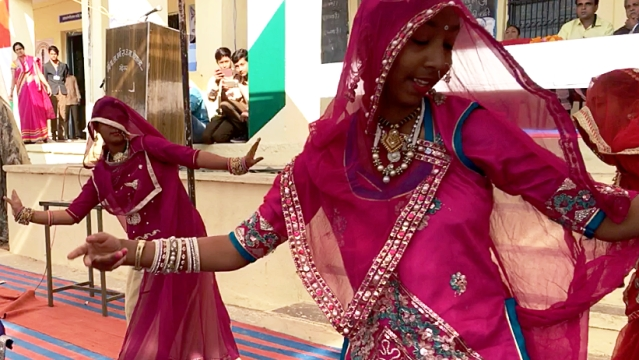Students performing the Ghoomar song from the film, at a school function. Image used for representational purpose.