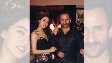 Saif Ali Khan with daughter Sara Ali Khan.