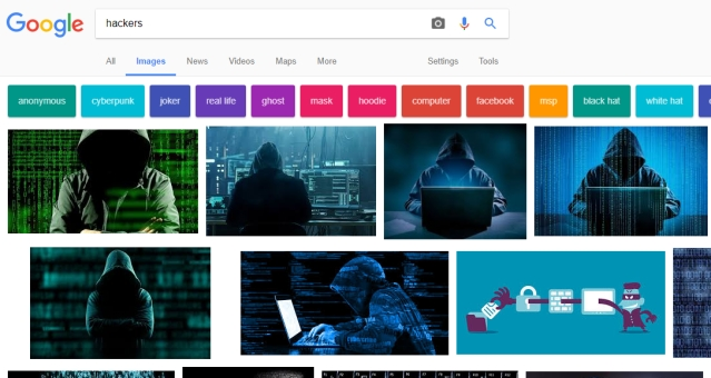 Searching 'Hackers' on Google search be like.