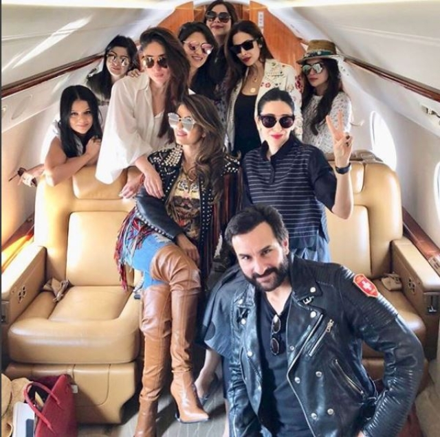 Kareena Kapoor Khan, Karisma Kapoor, Saif Ali Khan, Malaika Arora and Amrita Arora are set to party in Goa.
