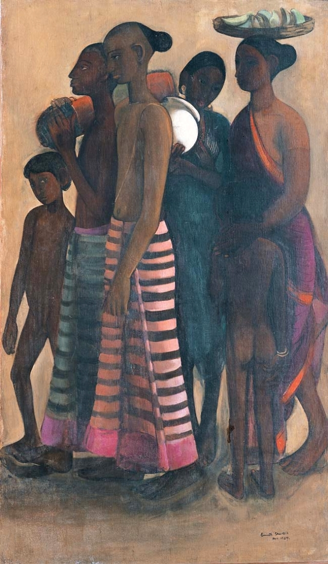 Amrita Sher-Gil's 'South Indian Villagers Going to a Market'.