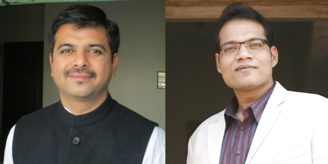 (From left) Nilesh Navalakha and Vivek Kajaria.