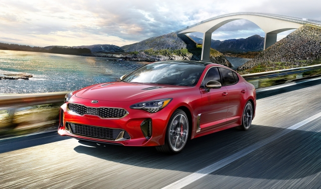 The Kia Stinger sports sedan is one of the company's flagship products.