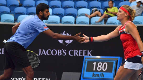 File photo of Rohan Bopanna and Timea Babos.