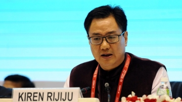 File photo of Minister of State for Home Affairs Kiren Rijiju.