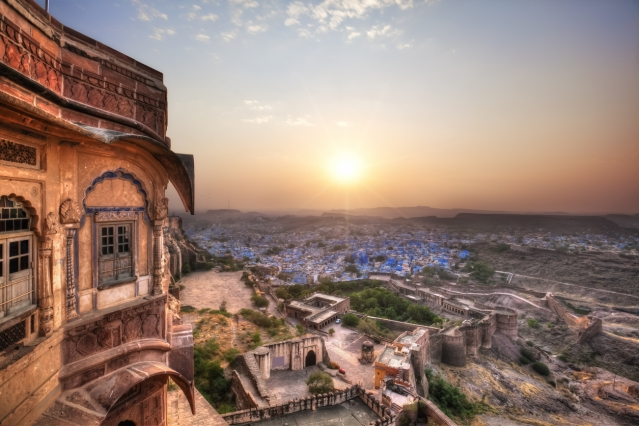 The blue city of Jodhpur.