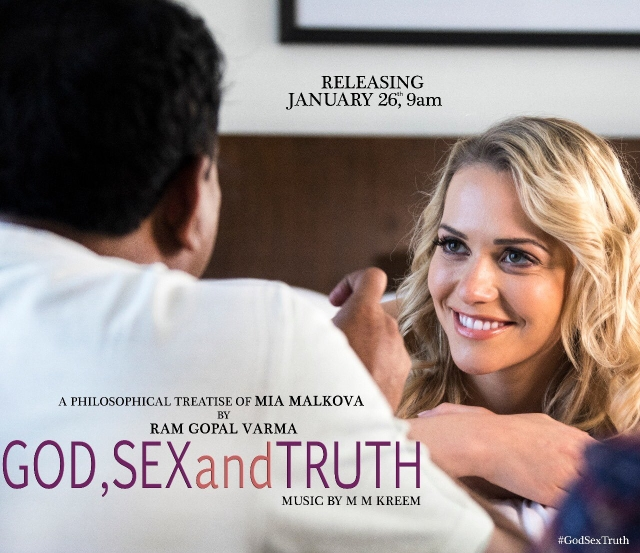Mia Malkova with RGV on the poster of <i>God, Sex and Truth.</i>