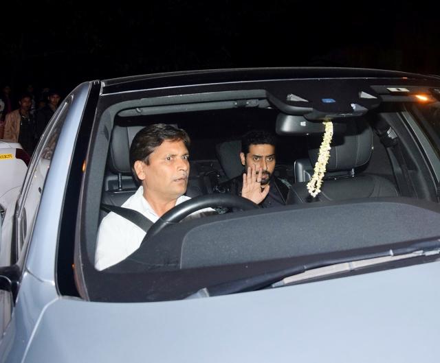 Abhishek Bachchan arrived with Aishwarya Rai.