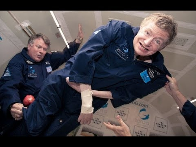 Hawking took a zero-gravity flight in 2007.