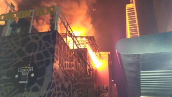 A massive fire broke out in Kamala Mills, Mumbai on Friday.