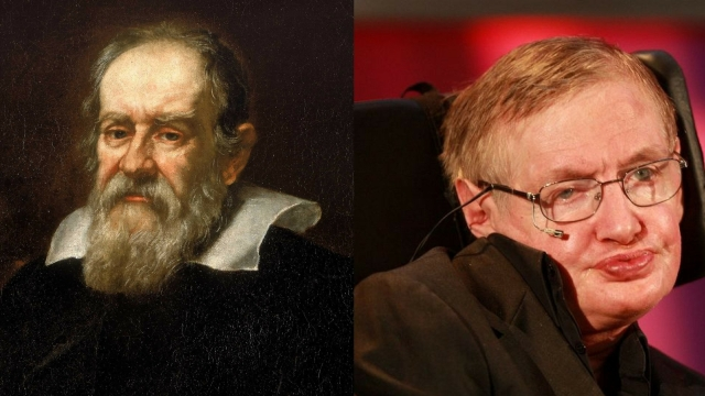 Hawking was born on the 300th death anniversary of Galileo Galilei.