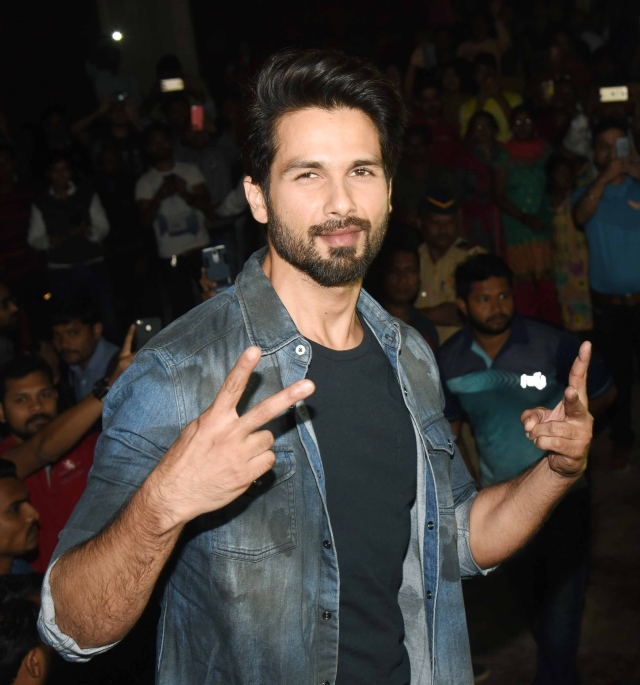 Shahid seems to resonate the sentiments of victory and peace.