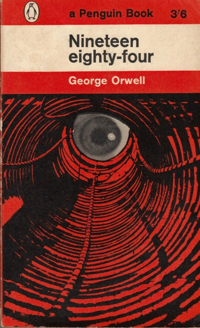 A Penguin cover of George Orwell's <i>1984</i>.