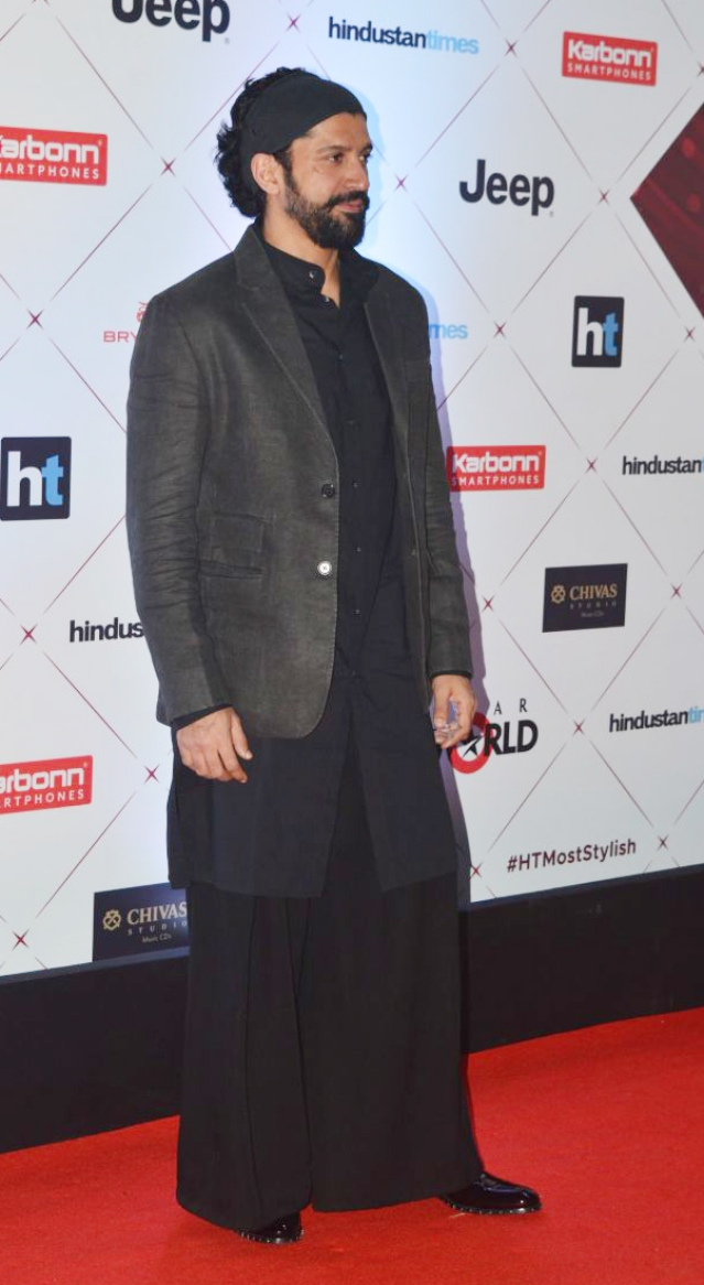 Farhan Akhtar flaunts a striking ensemble.