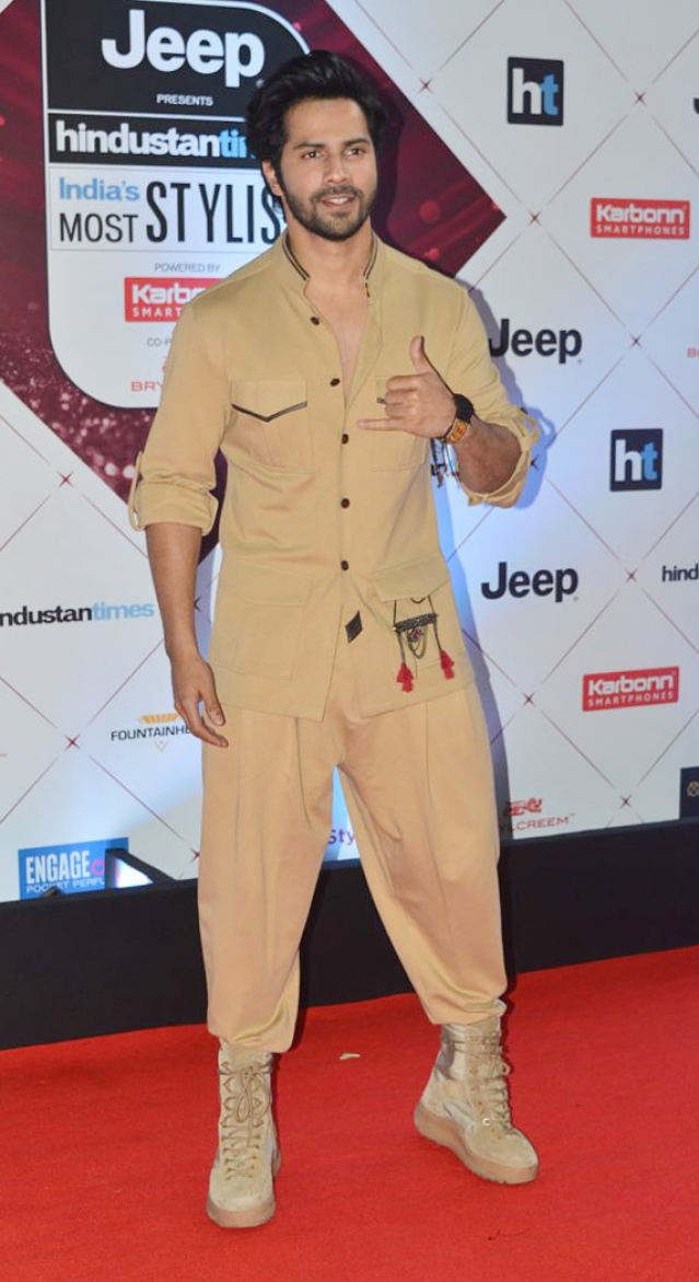 Varun Dhawan sports a cool ensemble.