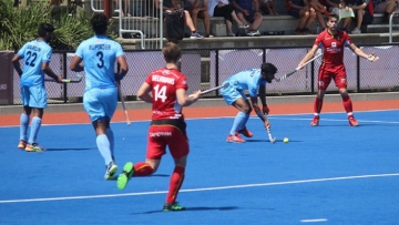 India went down fighting to Belgium 1-2 in a thrilling final match.