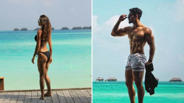 In Photos: Tiger Shroff and Disha Patani Enjoy Their Beach Vacay