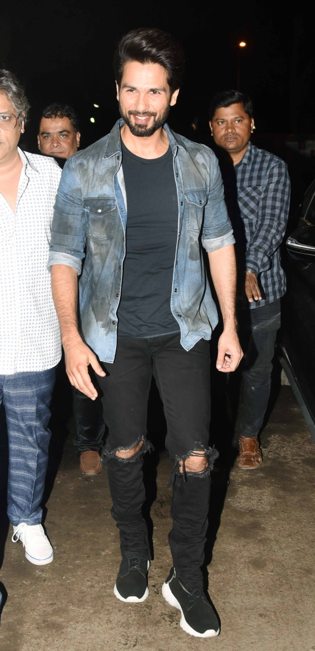 Shahid Kapoor looks relieved to see the response to his film.